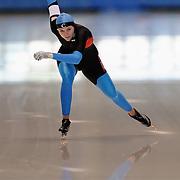 September 18, 2010 - Kearns, Utah - Heather Richardson races in long track speedskating time-trials held at the Utah Olympic Oval.
