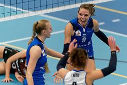 26-10-2019 NED: Talentteam Papendal - Sliedrecht Sport, Ede<br /> Round 4 of Eredivisie volleyball - Lisanne Baak #9 of Sliedrecht Sport