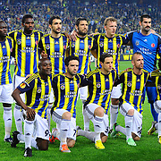 Fenerbahce's team group during their UEFA Europa League Semi Final first match Fenerbahce between Benfica at Sukru Saracaoglu stadium in Istanbul Turkey on Thursday 25 April 2013. Photo by TURKPIX