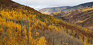 A rainbow on the far peak, Autumn in the Rocky Mountains of Gunnison County Colorado; USA