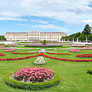 Panorama of Schonbrunn, the Habsburg Imperial Palace in Vienna, Austria