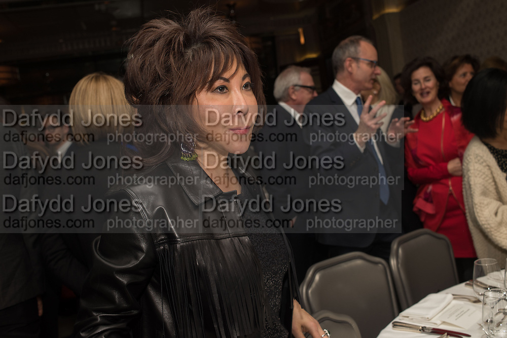 LADY WONG DAVIES, Anish Kapoor and Lee Ufan preview dinner hosted by the Lisson Gallery after the opening on Bell St. The Connaught. London. 23 March 2015