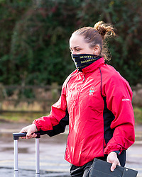 Referee Nikki O'Donnell arrives at Sixways - Mandatory by-line: Nick Browning/JMP - 20/12/2020 - RUGBY - Sixways Stadium - Worcester, England - Worcester Warriors Women v Harlequins Women - Allianz Premier 15s