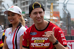 October 21, 2018 - Gold Coast, QLD, U.S. - GOLD COAST, QLD - OCTOBER 21: Chaz Mostert in the Supercheap Auto Racing Ford Falcon during the parade lap at The 2018 Vodafone Supercar Gold Coast 600 in Queensland, Australia. (Photo by Speed Media/Icon Sportswire) (Credit Image: © Speed Media/Icon SMI via ZUMA Press)