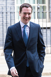 Downing Street, London, May 17th 2016. The Chancellor of The Exchequer George Osborne leaves the weekly cabinet meeting in Downing Street.
