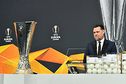 NYON, SWITZERLAND - Monday, December 14, 2020: Special guest former Portugal player Maniche during the UEFA Europa League 2020/21 Round of 32 draw at the UEFA Headquarters, the House of European Football. (Photo Handout/UEFA)