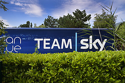 July 16, 2018 - Chambery, FRANCE - Illustration picture shows the Team Sky bus on the first rest day in the 105th edition of the Tour de France cycling race, in Chambery, France, Monday 16 July 2018. This year's Tour de France takes place from July 7th to July 29th. BELGA PHOTO YORICK JANSENS (Credit Image: © Yorick Jansens/Belga via ZUMA Press)