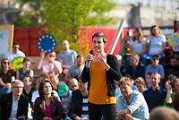 DEU, Deutschland, Germany, Berlin, 24.05.2019: Ska Keller, Spitzenkandidatin von BÜNDNIS 90/DIE GRÜNEN zur Europawahl, beim Startschuss zum Wahlkampf-Endspurt von BÜNDNIS 90/DIE GRÜNEN zur Europawahl im Osthafen.