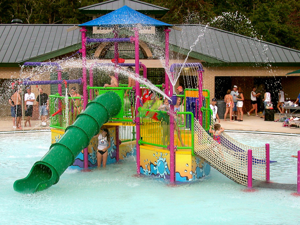 In the spring and summer months, the heart of excitement at The Woodlands  Waterpark, a vast poolside waterscape.