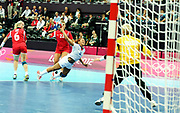 DESCRIZIONE : France Hand Jeux Olympiques Londres <br /> GIOCATORE : KANTO NJITAM Nina FRA<br /> SQUADRA : France Femme<br /> EVENTO : FRANCE Hand Jeux Olympiques<br /> GARA : FRANCE NORVEGE<br /> DATA : 28 07 2012<br /> CATEGORIA : Hand Jeux Olympiques<br /> SPORT : Handball<br /> AUTORE : JF Molliere <br /> Galleria : France Hand 2011-2012 Action<br /> Fotonotizia : France Hand Femme Hand Jeux Olympiques Londres