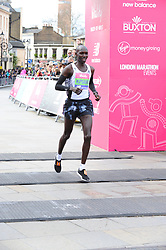 March 10, 2019 - London, United Kingdom - A runner seen crossing the finishing line during The Vitality Big Half, which has returned for a festival of running and culture to the heart of London in a celebration of the rich and wonderful diversity of the capital city and Finishing it at Cutty Sark. (Credit Image: © Terry Scott/SOPA Images via ZUMA Wire)