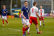 Leon King during the U17 European Championships match between Scotland and Poland at Firhill Stadium, Maryhill, Scotland on 26 March 2019.