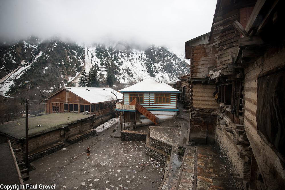 Bumburet, Chitral District,Pakistan.Pic Shows  Kalash village in the valley of Bumburet