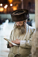 A Haredim in Shabbat clothes with a shtreimel fur hat usually worn by married haredi men on Shabbat. Havdalah is a Jewish ceremony that marks the symbolic end of Shabbat and ushers in the new week. Shabbat ends on Saturday night after the appearance of three stars in the sky.