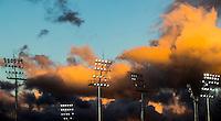RIO DE JANEIRO  (Brazilië) -  Lights with clouds   during the poolmatch women, Australie-Argentinie  COPYRIGHT KOEN SUYK