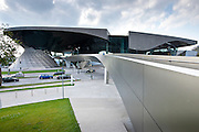 Modern architecture at the BMW Customer Collection, Showroom, Museum, Headquarters and Factory in Munich, Bavaria, Germany
