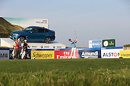 Renato Paratore (ITA) plays from the sunkist 16th tee during Round One of the 2015 Alstom Open de France, played at Le Golf National, Saint-Quentin-En-Yvelines, Paris, France. /03/07/2015/. Picture: Golffile | David Lloyd<br /> <br /> All photos usage must carry mandatory copyright credit (© Golffile | David Lloyd)