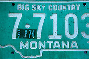 Old Montana License Plate.