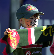 Leicester, 13th September 2003, Zurich Premiership Rugby,  Welford Road, <br /> [Mandatory Credit; Peter Spurrier/Intersport Images]<br /> Zurich Premiership Rugby - Leicester Tigers v London Irish.<br /> Leicester Tigers' young fans with painted tiger faces