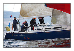 Brewin Dolphin Scottish Series 2010, Tarbert Loch Fyne - Yachting..Day one stated late but resulted in good conditions on Loch Fyne..IRL29213 ,Something Else ,Hall/McDonnell ,National YC ,J109...