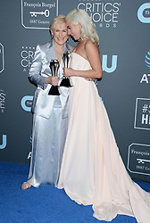 24th Annual Critics Choice Awards - Press Room. 13 Jan 2019 Pictured: Glenn Close and Lady Gaga. Photo credit: MEGA TheMegaAgency.com +1 888 505 6342
