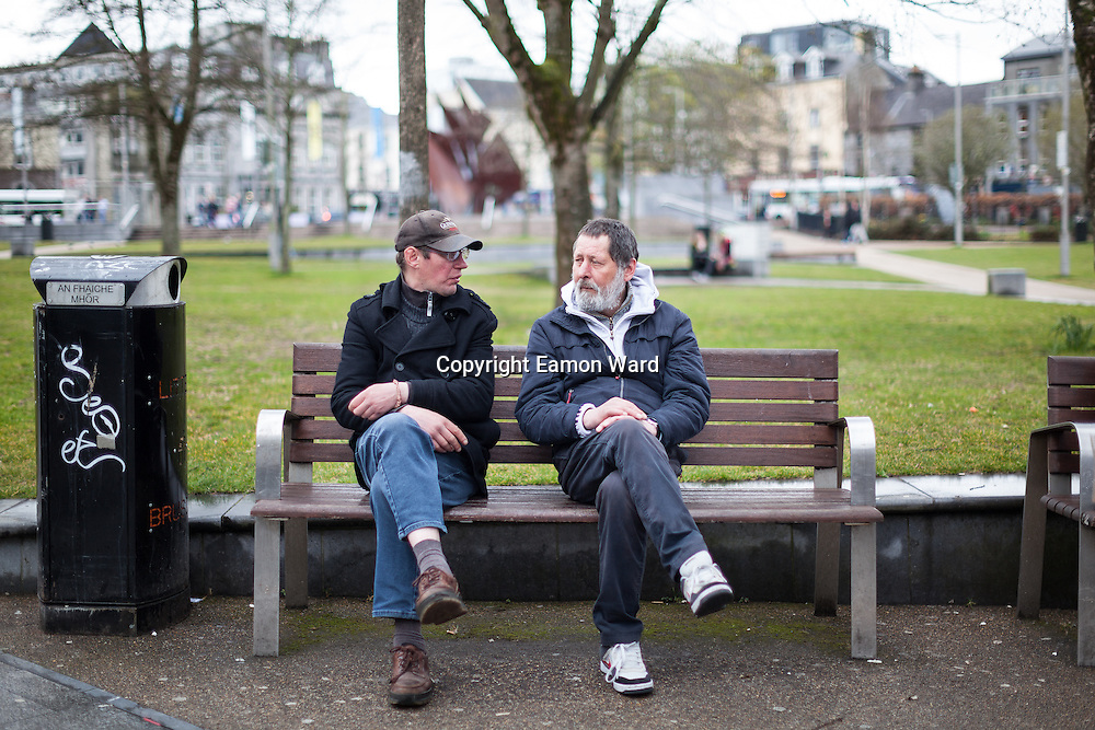 Peter Baram, Poland and Josef Pavelka, Czech Republic who were living in a public toilet in  Ennis have secured temporary emergency accomodation in Galway. Photograph by Eamon Ward (Gordon Deegan is sending a follow up story)