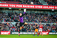 Sheffield Wednesday goalkeeper Joe Wildsmith (2) claims the ball during the The FA Cup match between Middlesbrough and Sheffield Wednesday at the Riverside Stadium, Middlesbrough, England on 8 January 2017. Photo by Simon Davies.
