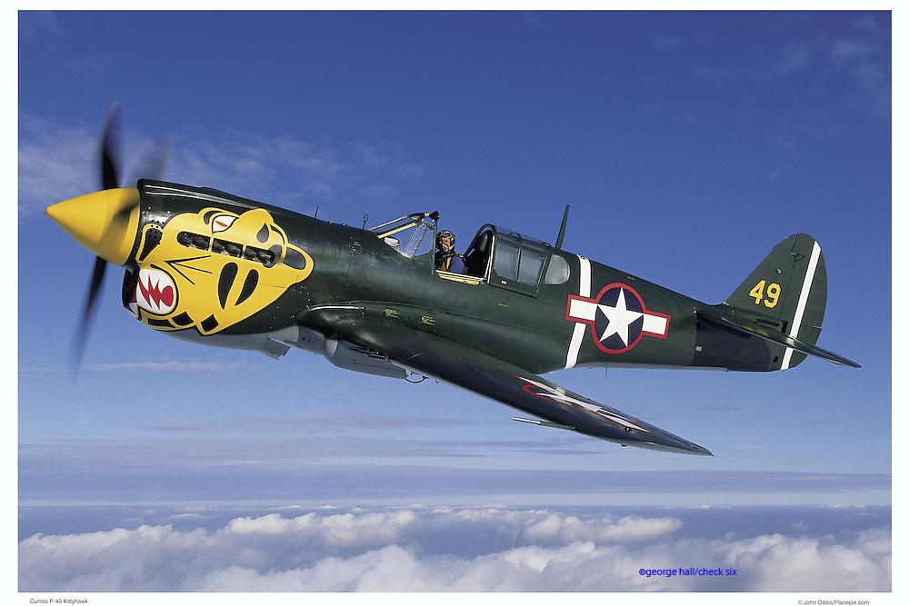 P-40 Tigernose, aerial