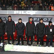 Genclerbirligi's players during their Turkish Superleague soccer match Genclerbirligi between Fenerbahce at the 19 Mayis stadium in Ankara Turkey on Friday 25 November 2011. Photo by TURKPIX