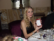Jodie Kidd. David Bailey dinner hosted by Lucy Yeomans at Gordon Ramsay at Claridge's. 12 November 2001. © Copyright Photograph by Dafydd Jones 66 Stockwell Park Rd. London SW9 0DA Tel 020 7733 0108 www.dafjones.com