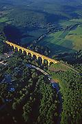 Aerial, Tunkhannock Viaduct (also known as the Nicholson Bridge), Tunkhannock Creek, Nicholson, Wyoming Co., NE PA Aerial Photograph Pennsylvania