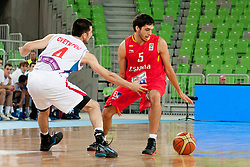 Jose Pozas of Spain during basketball match between National teams of Serbia and Spain in Placement match for 3rd place of U20 Men European Championship Slovenia 2012, on July 22, 2012 in SRC Stozice, Ljubljana, Slovenia. (Photo by Urban Urbanc / Sportida.com)