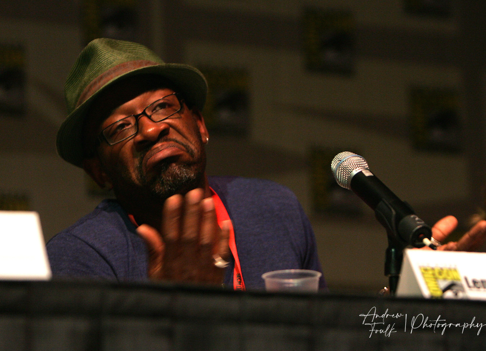 """Andrew Foulk/ Zuma Press.July 24, 2009, San Diego, California, USA. Lennie James Comic Con. Actor """"Lennie James"""" of """"Jericho"""" fame talks about his upcoming show """"The Prisoner"""" , during day two of the 40th annual San Diego International Comic Con."""