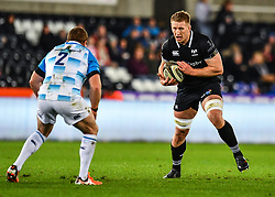 Ospreys' Bradley Davies in action during todays match<br /> <br /> Photographer Craig Thomas/Replay Images<br /> <br /> Guinness PRO14 Round 18 - Ospreys v Leinster - Saturday 24th March 2018 - Liberty Stadium - Swansea<br /> <br /> World Copyright © Replay Images . All rights reserved. info@replayimages.co.uk - http://replayimages.co.uk