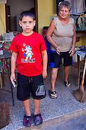 Boy and his grandmother in Gibara,Holguin,Cuba.