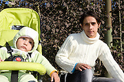 Adriana Lica in October 2008on Rosetti Avenue in Iasi with her one year old baby Ionut. Adriana has two other children who live with a foster family. She lives on the streets of Iasi and relies on begging and benefits she gets because Ionut is disabled.