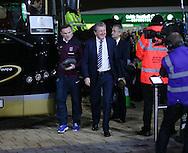 England's Wayne Rooney and Roy Hodgson arrive<br /> <br /> - International Friendly - Scotland vs England- Celtic Park - Glasgow - Scotland - 18th November 2014  - Picture David Klein/Sportimage