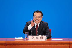 Chinese Premier Li Keqiang gives a press conference at the Great Hall of the People in Beijing, capital of China, March 16, 2016. EXPA Pictures © 2016, PhotoCredit: EXPA/ Photoshot/ Xing Guangli<br /> <br /> *****ATTENTION - for AUT, SLO, CRO, SRB, BIH, MAZ, SUI only*****