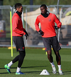 Chris Smalling and Paul Pogba of Manchester United  - Mandatory by-line: Matt McNulty/JMP - 19/10/2016 - FOOTBALL - Manchester United - Training session ahead of Europa League game against Fenerbahce