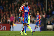 Christian Benteke of Crystal Palace looking on. Premier League match, Crystal Palace v Liverpool at Selhurst Park in London on Saturday 29th October 2016.<br /> pic by John Patrick Fletcher, Andrew Orchard sports photography.