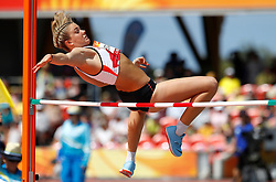 England's Katie Stainton in action during the High Jump element of the Women's Heptathlon, at the Carrara Stadium during day eight of the 2018 Commonwealth Games in the Gold Coast, Australia.