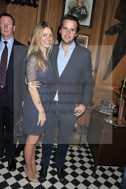 ANNEKE VON TROTHA TAYLOR and CHARLIE GILKES at a party to celebrate the launch Mr Fogg's, 15 Bruton Lane, London W1 on 21st May 2013.