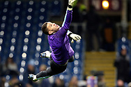 Manchester City goalkeeper Ederson (31) warming up during the Premier League match between Burnley and Manchester City at Turf Moor, Burnley, England on 3 December 2019.