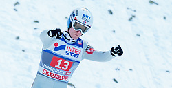 03.01.2016, Bergisel Schanze, Innsbruck, AUT, FIS Weltcup Ski Sprung, Vierschanzentournee, Bewerb, im Bild Kenneth Gangnes (NOR) // Kenneth Gangnes of Norway during his Competition Jump of Four Hills Tournament of FIS Ski Jumping World Cup at the Bergisel Schanze, Innsbruck, Austria on 2016/01/03. EXPA Pictures © 2016, PhotoCredit: EXPA/ JFK