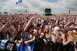 The crowd at the main stage for the start of T in the Park, Saturday 11th July, 2009, for Bjorn Again.