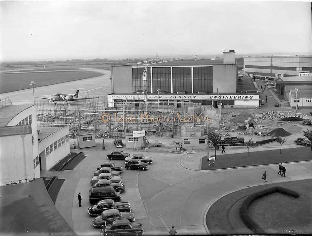13/06/1958<br /> 06/13/1958<br /> 13 June 1958<br /> Airport reconstruction at Dublin Airport. Special for Aer Lingus.