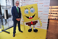RICHARD JAMES and SpongeBob SquarePants arriving at a party to launch a range of SpongeBob SquarePants suits and accessories designed by Richard James in partnership with Nickelodeon held at Richard James, 29 Savile Row, London W1 on 11th May 2011.