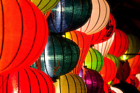 Colourful lanterns on display in Hoi An.