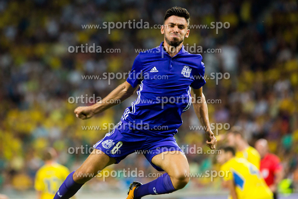 Morgan Sanson of Olympic Marseille during football match between NK Domzale and Olympique de Marseille in First game of UEFA Europa League playoff round, on August 17, 2017 in SRC Stozice, Ljubljana, Slovenia. Photo by Ziga Zupan / Sportida