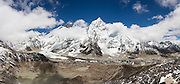 Mount Everest (8848m) and Nuptse (7861m) from Kala Patthar (5545m), this view for many the final destination on the Everest Base Camp Trek, Khumbu region, Sagarmatha National Park, Himalaya Mountains, Nepal.